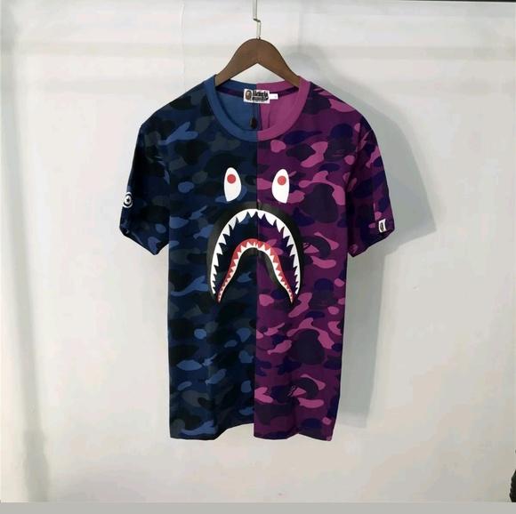 86c9f9e1 ... bape shirts wgm shark t shirt poshmark ...